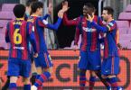 Barcelona Squad Celebrate
